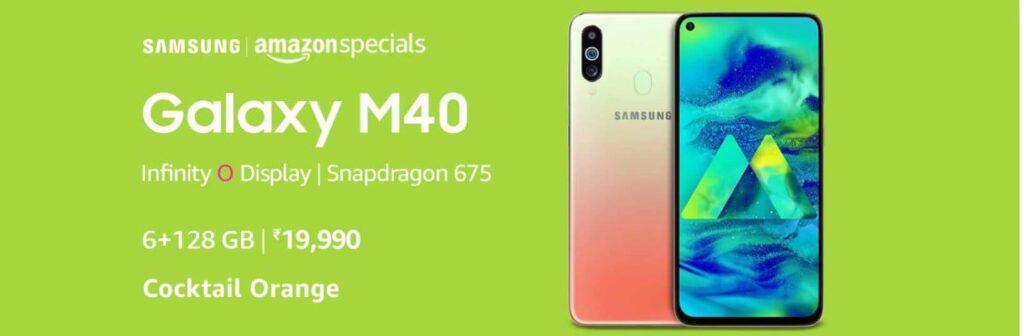 Samsung Galaxy M40 Cocktail Orange