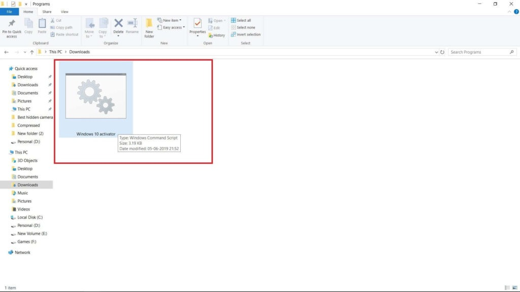 Windows 10 activate with CMD